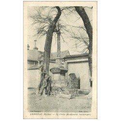 carte postale ancienne 51 AMBONNAY. La Croix 1918
