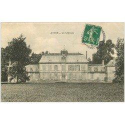 carte postale ancienne 51 ATHIS. Le Château 1912