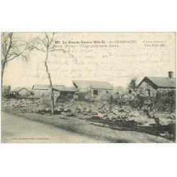 carte postale ancienne 51 AUVE. Village détruit 1915