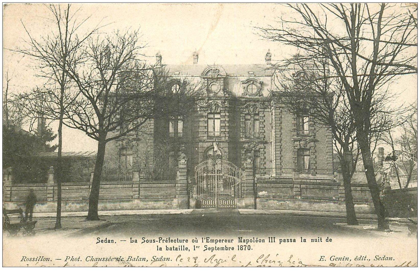 carte postale ancienne 08 SEDAN. La Sous-Préfecture 1902