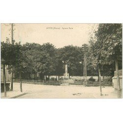 carte postale ancienne 51 AVIZE. Square Paris 1932