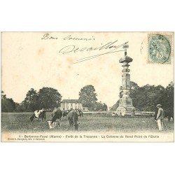 carte postale ancienne 51 BARBONNE-FAYEL. Colonne Rond Point de l'Etoile Forêt Traconne