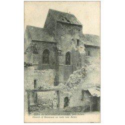 carte postale ancienne 51 BEAUMONT-SUR-VESLE. L'Eglise 1916