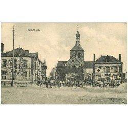 carte postale ancienne 51 BETHENIVILLE. Cortège Sanitaire 1916