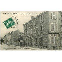 carte postale ancienne 51 CHALONS-SUR-MARNE. Bureaux Etat Major Général 1912