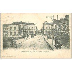 carte postale ancienne 51 CHALONS-SUR-MARNE. Hémicycle rue de Marne 1923