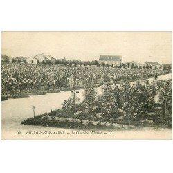 carte postale ancienne 51 CHALONS-SUR-MARNE. Le Cimetière Militaire