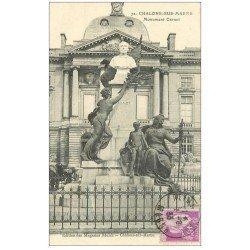 carte postale ancienne 51 CHALONS-SUR-MARNE. Monument Carnot 1933