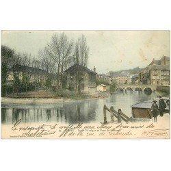 carte postale ancienne 08 SEDAN. Sport Nautique Pont de Soissons 1903