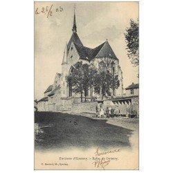 carte postale ancienne 51 DAMERY. L'Eglise avec animation 1903