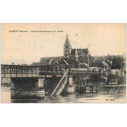 carte postale ancienne 51 DAMERY. Pont reconstruit par le 5° Génie 1916