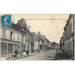carte postale ancienne 51 DORMANS. Café Bal et Théâtre Rue de Paris 1921