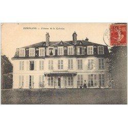 carte postale ancienne 51 DORMANS. Château de la Grévoise 1908 animé