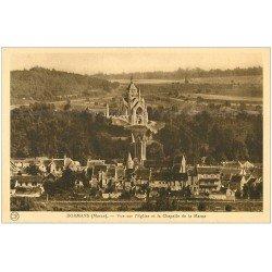 carte postale ancienne 51 DORMANS. Eglise et Chapelle de la Marne