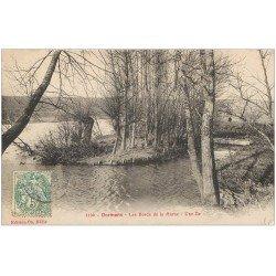 carte postale ancienne 51 DORMANS. Île et bords de la Marne 1906