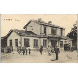 carte postale ancienne 51 DORMANS. La Gare 1916