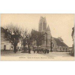carte postale ancienne 51 DORMANS. Monument et Eglise
