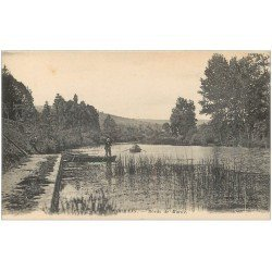 carte postale ancienne 51 DORMANS. Pêcheur et Rameur bords de Marne