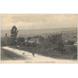 carte postale ancienne 51 DORMANS. Route d'Igny 1917