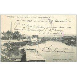 carte postale ancienne 51 EPERNAY. Ateliers Compagnie de l'Est 1905
