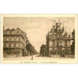 carte postale ancienne 51 EPERNAY. Avenue de Champagne 1934