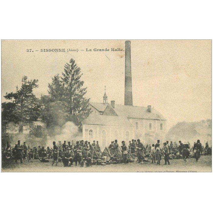 02 camp sissonne la grande halte 1905 militaires et soldats for Sissonne 02