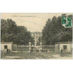 carte postale ancienne 51 EPERNAY. Caserne des Chasseurs à Pied 1909
