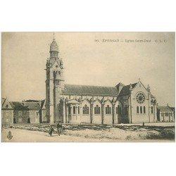 carte postale ancienne 51 EPERNAY. Eglise Saint-Paul 1905