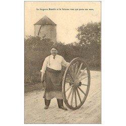 carte postale ancienne 51 EPERNAY. Forgeron Biniolle et sa fameuse Roue