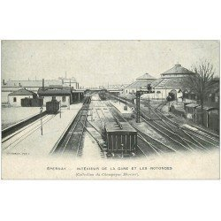 carte postale ancienne 51 EPERNAY. Gare et Rotondes