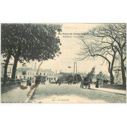 carte postale ancienne 51 EPERNAY. La Gare 1915