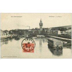 carte postale ancienne 51 EPERNAY. Lavoir Parisien sur la Marne