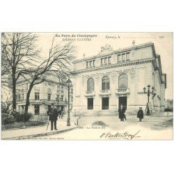 carte postale ancienne 51 EPERNAY. Le Théâtre 1903