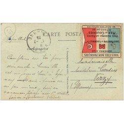 carte postale ancienne 51 EPERNAY. Le Théâtre 1923. Beau Timbre Ligue Maritime et Coloniale LMC