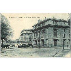carte postale ancienne 51 EPERNAY. Le Théâtre Place Thiers