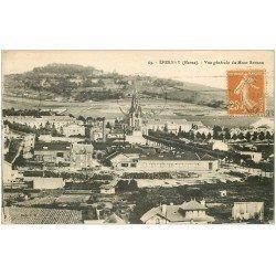 carte postale ancienne 51 EPERNAY. Monts Bernon et Ville