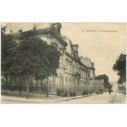 carte postale ancienne 51 EPERNAY. Palais de Justice 1915