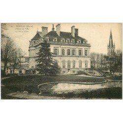 carte postale ancienne 51 EPERNAY. Piède Eau Hôtel de Ville 1924