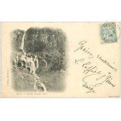 carte postale ancienne 09 AULUS. Grande Cascade d'Ars 1905