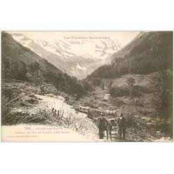 carte postale ancienne 09 AULUS-LES-BAINS. Ane Chemin du Col de Saleix 1928