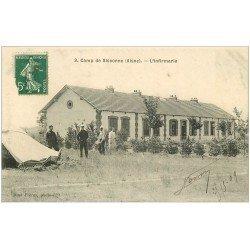 carte postale ancienne 02 CAMP SISSONNE. L'Infirmerie 1909. Militaires et Soldats