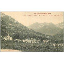 carte postale ancienne 09 AULUS-LES-BAINS. Le Village et Le Port de Saleix