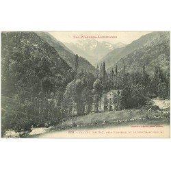 carte postale ancienne 09 AUZAT. La Vallée et le Montcalm 1922