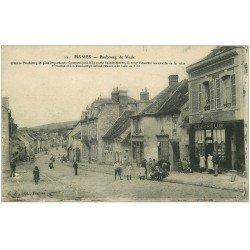 carte postale ancienne 51 FISMES. Coiffeur Faubourg de Vesle 1917