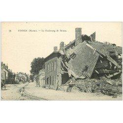 carte postale ancienne 51 FISMES. Le Faubourg de Reims