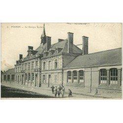 carte postale ancienne 51 FISMES. Le Groupe Scolaire 1916