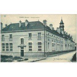 carte postale ancienne 51 FISMES. Le Groupe Scolaire 1931