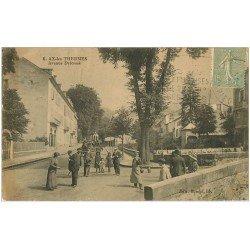 carte postale ancienne 09 AX-LES-THERMES. Avenue Delcassé (défaut)...