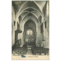 carte postale ancienne 51 FISMES. L'Eglise 1916 intérieur