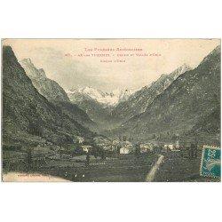 carte postale ancienne 09 AX-LES-THERMES. Cirque d'Orlu. Orgeix et Vallée 1920